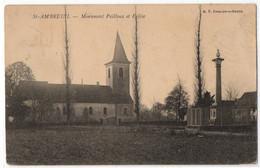CPA 71 - SAINT AMBREUIL (Saône Et Loire) - Monument Pailloux Et Eglise - Altri Comuni