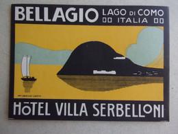 Etiquette  Hôtel  : HOTEL VILLA SERBELLONI ) BELLAGIO, Lago Di Como - Pubblicitari