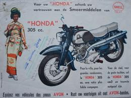 Publicité MOTO Motorcycle HONDA 250 Cc Cachet Garage Chapelle Lez Herlaimont - Sin Clasificación