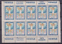 FRANCE - 10 VIGNETTES ANTI TUBERCULEUX AVEC PUB N** SANS CHARNIERE - Curiosities: 1931-40 Mint/hinged