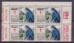 FRANCE - 4 VIGNETTES ANTI TUBERCULEUX AVEC PUB N** SANS CHARNIERE - Curiosities: 1931-40 Mint/hinged
