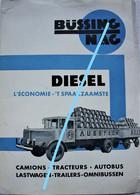 Catalogue Dépliant Büssing Nag  Voiture Car Auto Automobile Oldtimer Truck Camion Brasserie Agence Bruxelles - Sin Clasificación