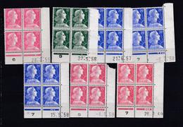 7 Coins Datés Marianne De Muller   Neuf XX Yvert 1011-1011A-1011B X 3-1011C X 2 - 1950-1959