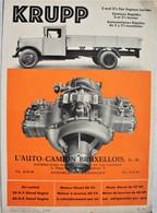 Catalogue Dépliant KRUPP Camion 2,5 Ton Express Lorries Voiture Car Auto Automobile Oldtimer Truck Bruxelles - Sin Clasificación