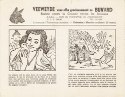 "Rare : Ancien Buvard Veeweyde ""Le Pigeon"" Jamais Utilisé (années 1950) - V"