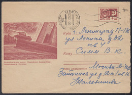 6608 RUSSIA 1969 ENTIER COVER Used VOLOKOLAMSK Moscow Region TANK MONUMENT T-34 TRANSPORT WW2 GUERRE WAR USSR Mailed 594 - 1960-69