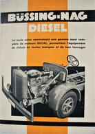 Catalogue Dépliant BüssingNag Diesel Moteur Voiture Car Auto Automobile Oldtimer Truck Bruxelles Brussel - Sin Clasificación