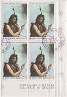 """SMOM - 1986 - Usato - """"San Giovanni Battista"""" 1v In Quartina (rif. 257 Cat. Unificato) - Malte (Ordre De)"""