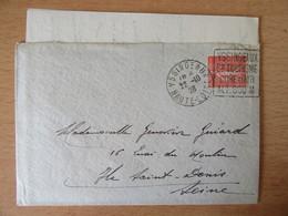 France - Enveloppe Entre Yssingeaux Et Saint-Denis 1928 - Timbre N°199 - Flamme Daguin Décalée - 1921-1960: Modern Tijdperk