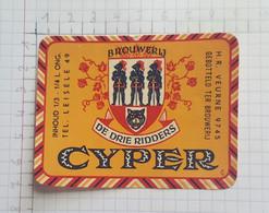 ETIQUETTE  BROUWERIJ DE DRIE RIDDERS LEISELE - Beer