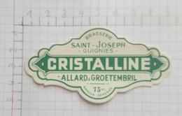 ETIQUETTE  BRASSERIE SAINT-JOSEPH ALLARD & GROETEMBRIL GUIGNIES CRISTALLINE - Beer
