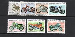 BURKINP FASO - 1985- MOTOR CYLES SET OF 7 MINT NEVER HINGED   SG CAT £11 + - Burkina Faso (1984-...)