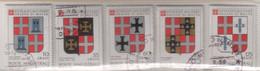 """SMOM - 1979 - Usato - """"Stemmi Dei Gran Maestri - 2^ Serie"""" S. Cpl 5v (rif. 170/74 Cat. Unificato) - Malte (Ordre De)"""
