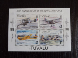 TUVALU - 1998 - 80° Anniversaire Royal Air Force - MNH ** - Vliegtuigen