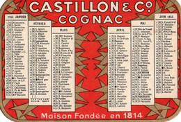 Calendrier De 1955 Publicitaire CASTILLON Cognac Maison Fondée En 1814 10,5x7,5 Cm - Small : 1941-60