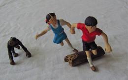Hergé Rares Figurines Jo Zette & Jocko Par Leblon Delienne - Statuettes En Métal
