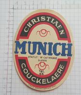 ETIQUETTE  BROUWERIJ CHRISTIAEN COECKELAERE MUNICH - Beer