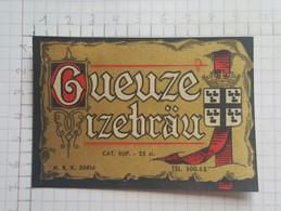 ETIQUETTE  GUEUZE IZEBRAU - Beer