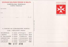 """SMOM - 1982 - Carte Postali """"Le Convenzioni Postali Dell'Ordine Con Vari Paesi Dal 1977 Al 1980"""" MNH** - Malte (Ordre De)"""
