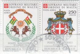 SMOM - 1983 Usato - AEREA Convenzione Postale Con Il Togo S. Cpl 2v Uniti (rif. A3/A4 Cat. Unificato) - Malte (Ordre De)