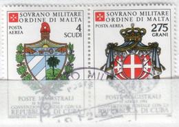 SMOM - 1984 Usato - AEREA Convenzione Postale Con Cuba S. Cpl 2v Uniti (rif. A11/A12 Cat. Unificato) - Malte (Ordre De)