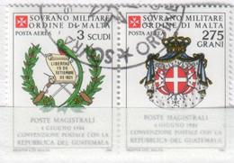 SMOM - 1984 Usato - AEREA Convenzione Postale Con Il Guatemala S. Cpl 2v Uniti (rif. A13/A14 Cat. Unificato) - Malte (Ordre De)