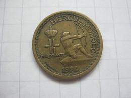 Monaco 50 Centimes 1924 - 1922-1949 Louis II.