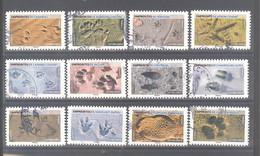 France Autoadhésifs Oblitérés (Série Complète : Empreintes D'animaux) (cachet Rond) - Used Stamps