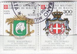 SMOM - 1985 Usato - AEREA Convenzione Postale Con La Costa D'Avorio S. Cpl 2v Uniti (rif. A15/A16 Cat. Unificato) - Malte (Ordre De)