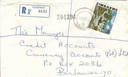 Zimbabwe 1981 Causeway Inyangombi Water Falls Registered Cover Bulawayo - Zimbabwe (1980-...)