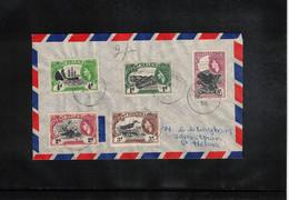 Saint Helena Island 1956 Interesting Airmail Letter - St. Helena