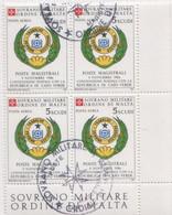 SMOM - 1987 Usato - AEREA Convenzione Postale Con Capo Verde 1v In Quartina (rif. A28 Cat. Unificato) - Malte (Ordre De)