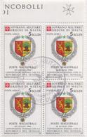 SMOM - 1987 Usato - AEREA Convenzione Postale Con Senegal 1v In Quartina (rif. A27 Cat. Unificato) - Malte (Ordre De)
