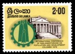 (0050) Sri Lanka  1979  Parlament / Politics / Building / Architecture    ** / Mnh   Michel 505 - Sri Lanka (Ceylon) (1948-...)
