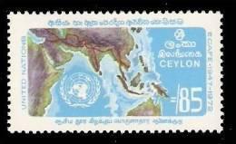 (118) Ceylon  1972  United Nations / Ecafe / Asia Map / Economy  ** / Mnh   Michel 424 - Sri Lanka (Ceylon) (1948-...)
