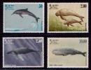 (0128) Sri Lanka  Marine Mammals / Meeressäugetiere / Whales / Dolphins  ** / Mnh  Michel 606-09 - Sri Lanka (Ceylon) (1948-...)
