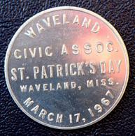 "Jeton Porte-bonheur ""Good Luck / Waveland Missouri - Civic Assoc. St. Patrick's Day - 17 Mars 1967 - Trèfle à 4 Feuilles - Monetary/Of Necessity"