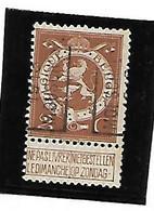 Preo  MOUSCRON / MOESCROEN  1913  Type A ( N°2230 ) 2 Ct Leeuw - Unclassified