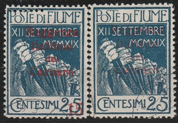 Fiume     .   Y&T    .    2 Timbres      .    O    .   Oblitéré    .    /    .   Cancelled - Fiume