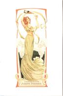 Menu Champagne Joseph Perrier (Châlons 51) TBE - Femme Art Nouveau - Repro - Vierge - Double - Alcools