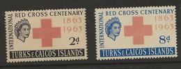 Turks & Caicos Islands, 1963, SG 255 - 256, Mint Hinged - Turks & Caicos
