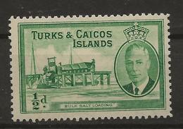 Turks & Caicos Islands, 1950, SG 221, Mint Hinged - Turks & Caicos