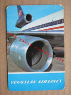 JAT - Jat Airways, Yugoslav Airlines ( 1980 ) / Pocket Calendar - Small : 1971-80