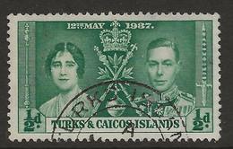 Turks & Caicos Islands, 1937, SG 191, Used - Turks And Caicos
