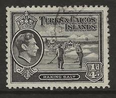 Turks & Caicos Islands, 1938, SG 194, Used - Turks And Caicos