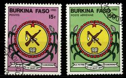 Burkina Faso 1985 Mi 983, 986 National Emblems CTO - Burkina Faso (1984-...)
