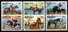 Burkina Faso 1985 Mi 1035-1040 Horses. World Philatelic Exhibition - Burkina Faso (1984-...)