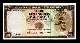 # # # Banknote Timor 100 Escudos 1963 UNC- # # # - Timor