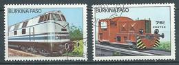 Burkina Faso YT N°657-658 Locomotives Oblitéré ° - Burkina Faso (1984-...)