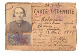 CARTE D'IDENTITE N°402 - 1942    LAMBEZELLEC  BREST - Non Classificati